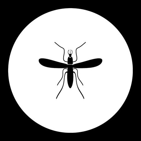 모기 곤충 간단한 검은 아이콘 일러스트