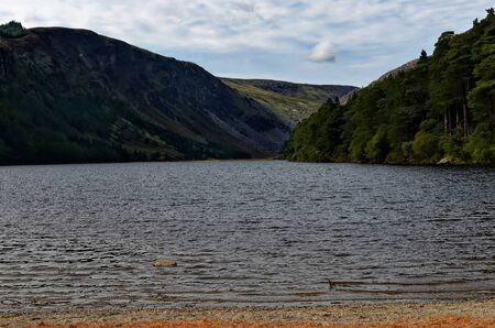 Glendalough upper lake and park in Ireland