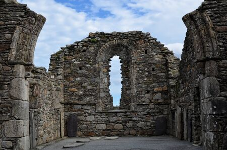 old Glendalough cathedral Ireland cemetery ruins photography