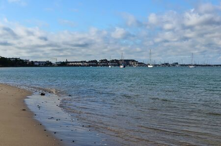 Malahide beach and city view Dublin Ireland