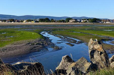 view at Dublin Bay in Sandymount Irishtown Nature Park