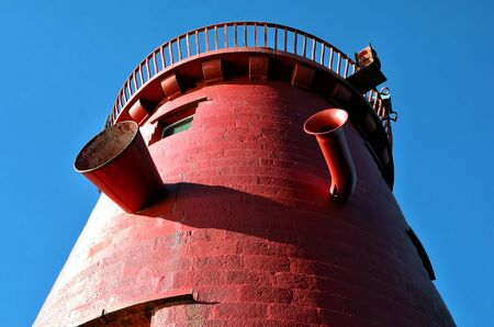detail of Poolbeg lighthouse Dublin port photo