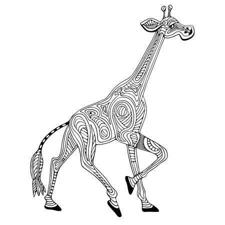 india pattern: Giraffe. Illustration