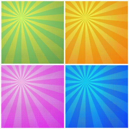 yelow: Set of halftone color background. Pattern design for banner, poster, brochure. Illustration