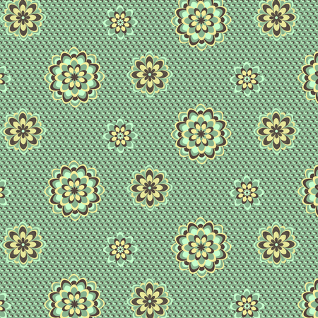 yelow: Abstract floral seamless pattern. Vector illustration. Floral background. Illustration