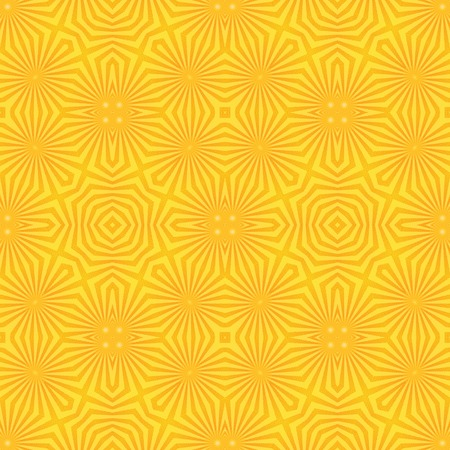 yelow: Abstract geometric starrs and stripes seamless background pattern for wallpaper or tile.