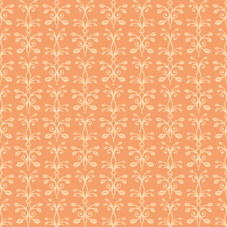 hinge: Orange floral ornament. Seamless pattern. Vintage. Luxury texture for wallpapers and backgrounds. Vector illustration.