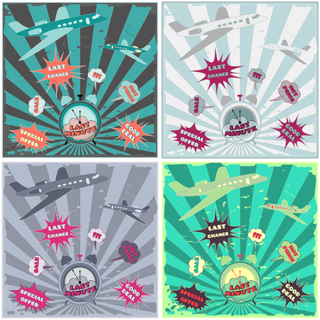 Last minute, last chance, good deal. Set of posters and banners. Vector illustration. Vektorové ilustrace