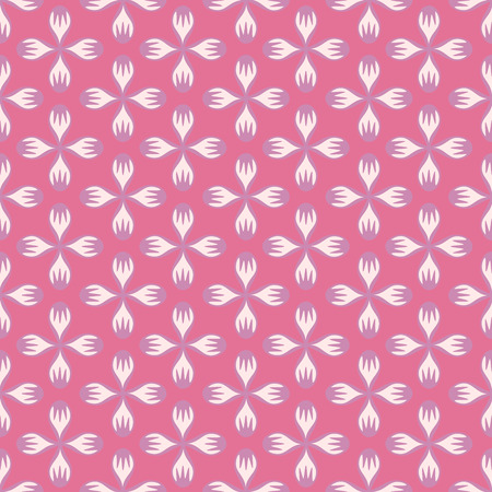 Pink floral abstract seamless pattern. Vintage style. Vector illustration.