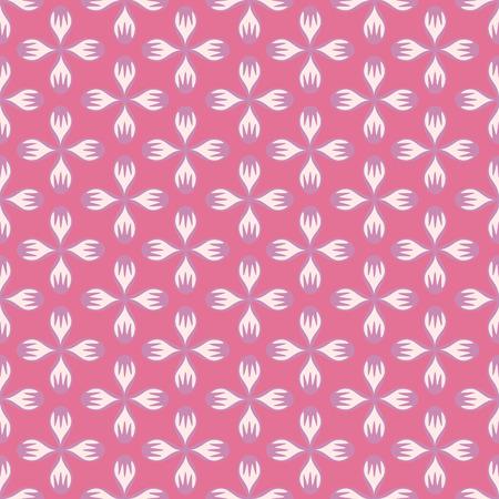 Rosa floral abstracto de patrones sin fisuras. Estilo vintage. Ilustración vectorial