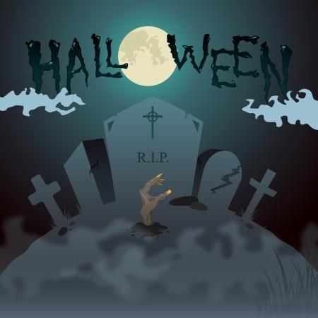 Halloween Zombie Invitation