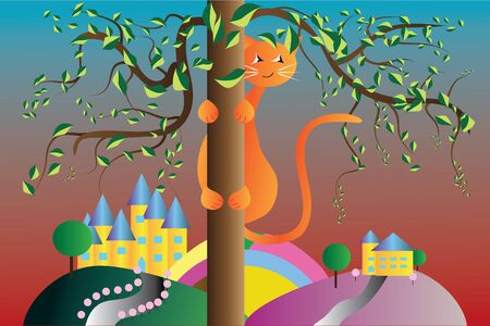 ginger cat tree background picture