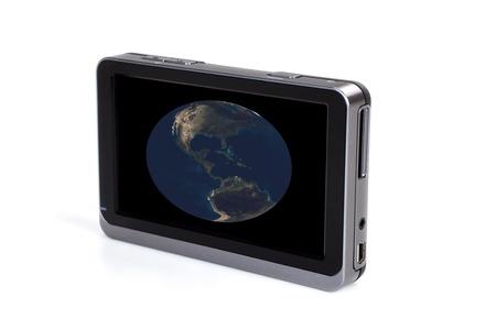 Elegant design GPS navigation isolated on white background. Stock Photo - 8622014