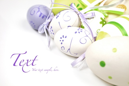 eastertime: Easter egg background with copy space for your text. Stock Photo