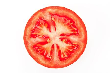 Tomato slice isolated on white background. Stock Photo - 9835169