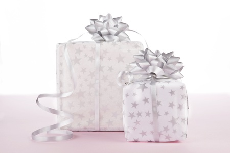 beautifully wrapped: Beautifully wrapped christmas gifts. Christmas background.