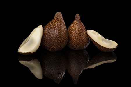 salak: Salak fruit isolated on black background