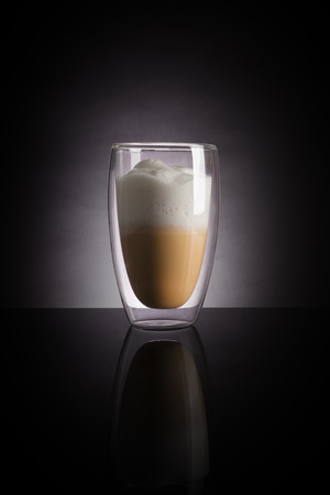 dark: Cappucino on dark background