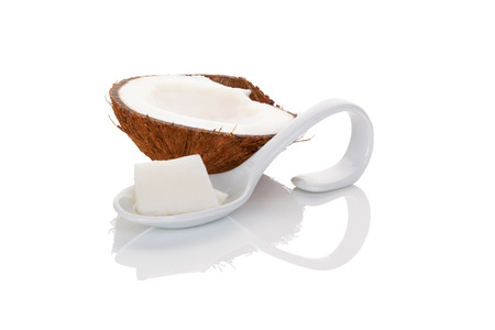 coconut oil: Coconut oil isolated on white background.