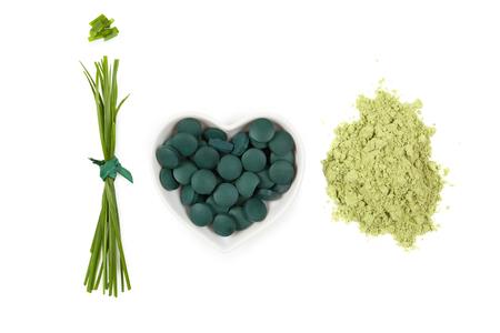 spirulina: Chlorella, spirulina and wheat grass