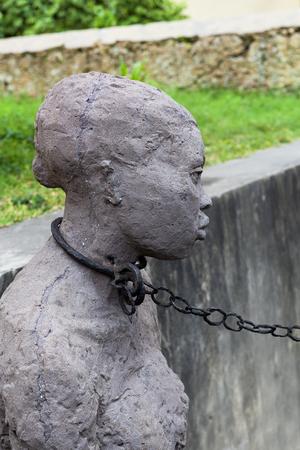 Statue of slave women in Zanzibar