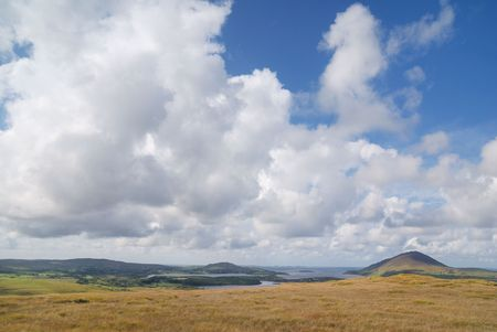 Landscape with clouds on blue sky Stock Photo - 3671945
