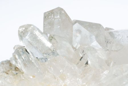 crystals: Group of quartz crystals