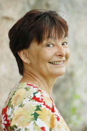 Portrait of confident senior woman outdoors Stock Photo - 3680980