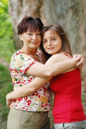 Happy senior woman with her smiling daughter Stock Photo - 3744298