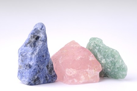 aventurine: Crude gemstones - semiprecious gem used in esoteric and alternative medicine