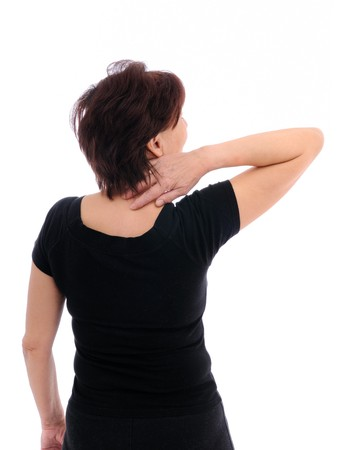 head and shoulder: Senior woman with back pain