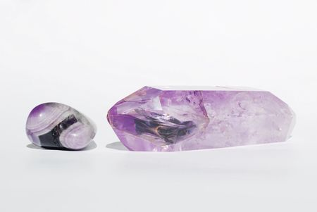 esoterics: Amethyst gems on white background
