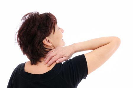 Senior woman with neck pain Stock Photo - 5798377