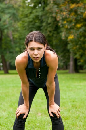 Relax - tired woman after sport Stock Photo - 7807749