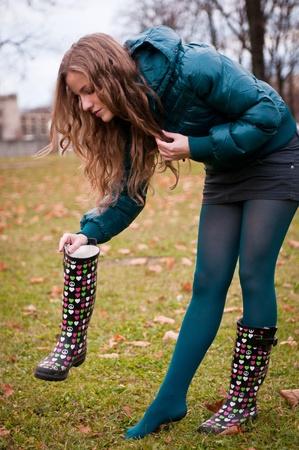 women in boots: What is inside