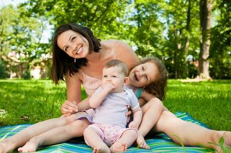 Family portrait - mother with children Stock Photo - 10461396