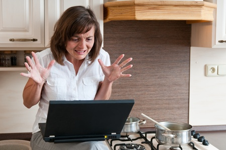 Bussy woman - work at home photo