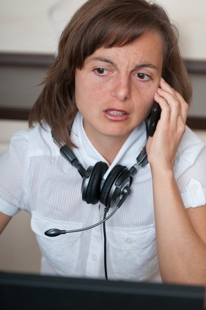 On the phone - work from home Stock Photo - 10711439