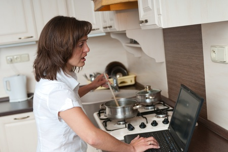 Bussy woman - work at home Stock Photo - 10979964