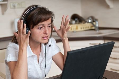 Stress - bussy working woman Stock Photo - 10979966