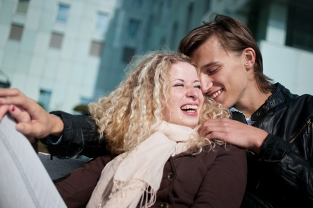 Smiling young couple together Stock Photo - 11223604