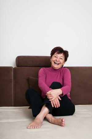 Portrait of senior woman photo