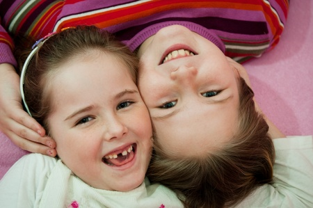 Portrait of children from above Stock Photo - 12915798