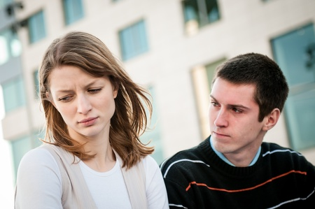 Relationship problem - couple portrait Stock Photo - 12915502