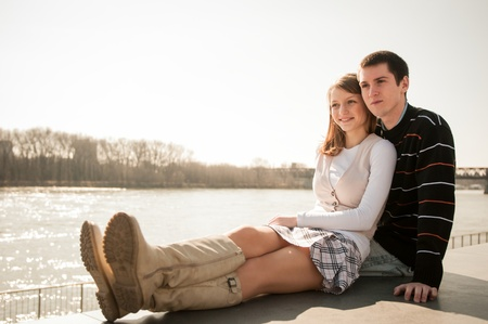 Young couple in love together Stock Photo - 12914891
