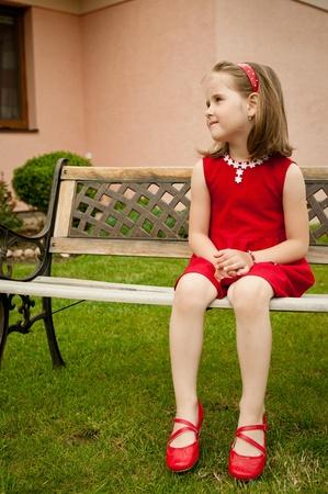 Child portrait - in red