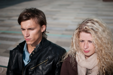 relationship problems: Relationship problem - couple portrait