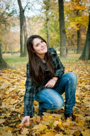 healthy llifestyle: Happy autumn lifestyle portrait