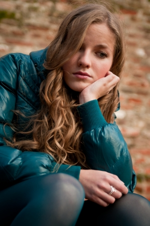 Troubles - teenager depressed outdoors photo