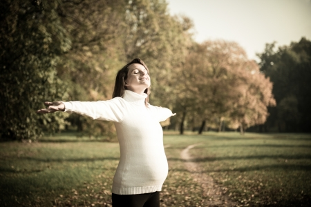 Enjoying life - expecting child in pregnancy photo
